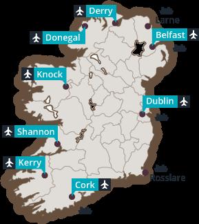 Irland Karte Pdf.Der Bed And Breakfast In Irland B B Irland Online Buchsystem