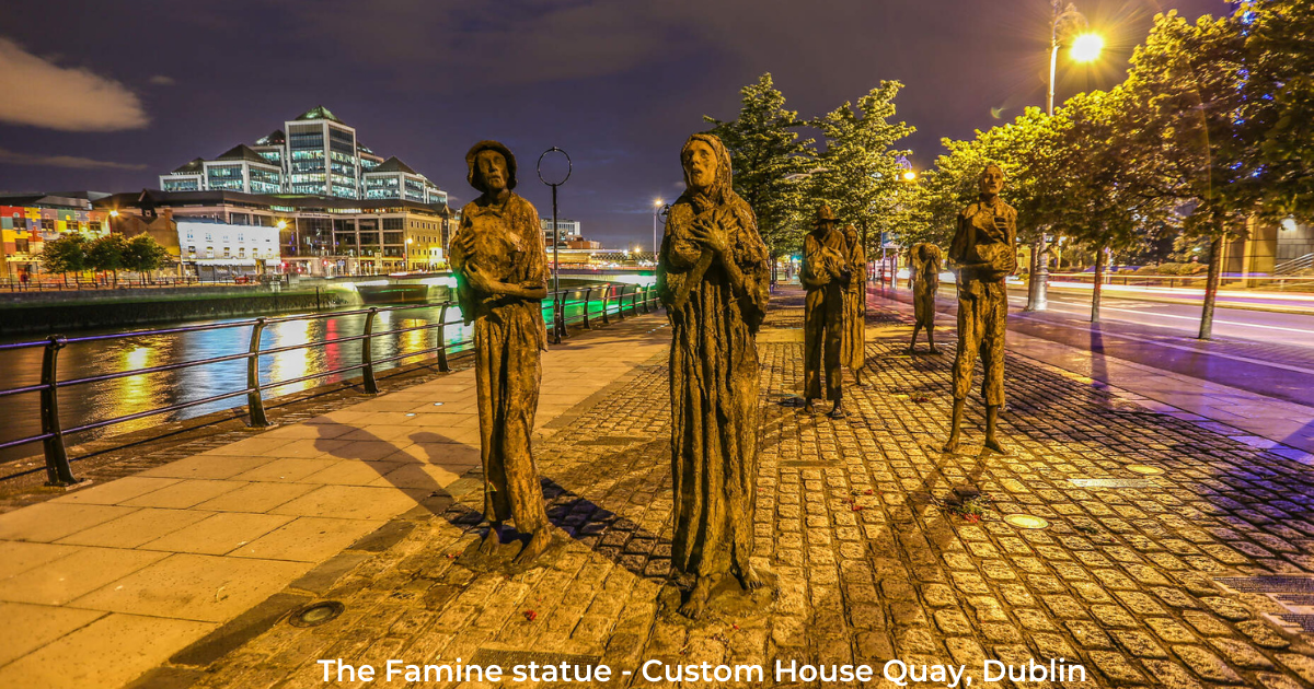 Famine Statue, Custome House Quay, Dublin