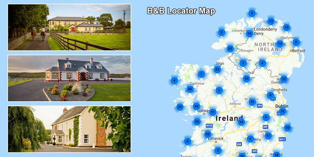 B&B Ireland Locator Map
