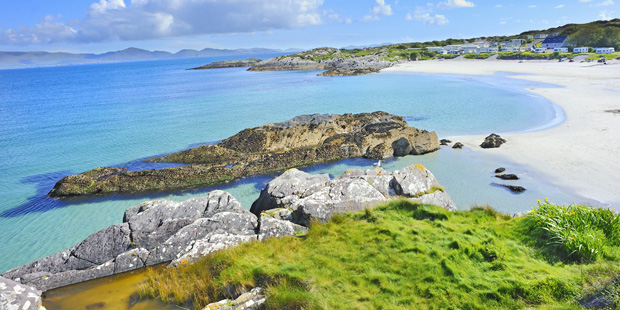 Golden beach on the Ring of Kerry