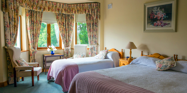 Double/Single - A room with one double bed and one single bed, suitable for three occupants.