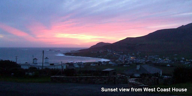 Sunset from West Coast House on Achill Island