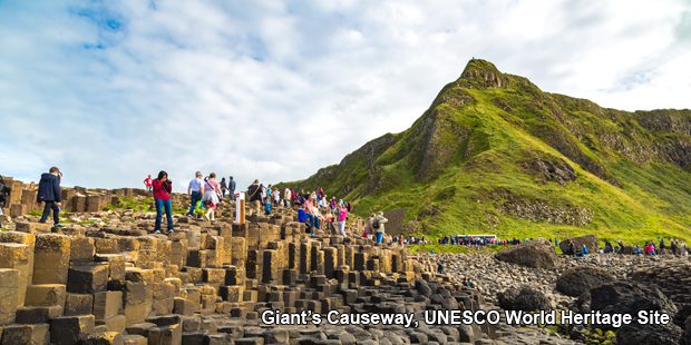 Giant's Causeway, a UNESCO World Heritage Site