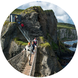 Carrick-a-Rede Rope Bridge along the Causeway Coastal Route