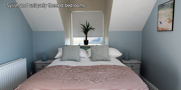Stylish and uniquely themed bedrooms at Hook Lodge, Wexford