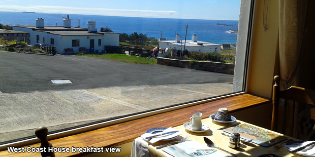 Breakfast view from West Coast House Bed & Breakfast, Achill Island