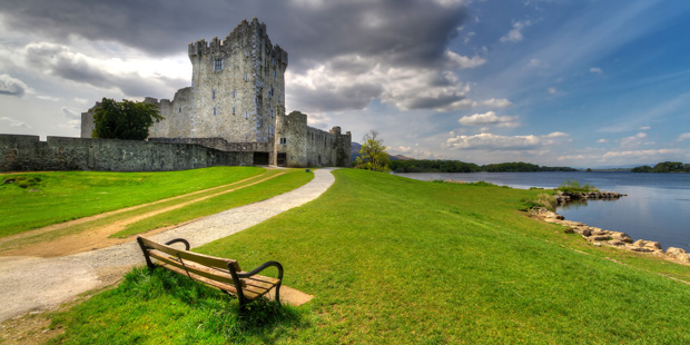 Ross Castle in Killarney National Park County Kerrry