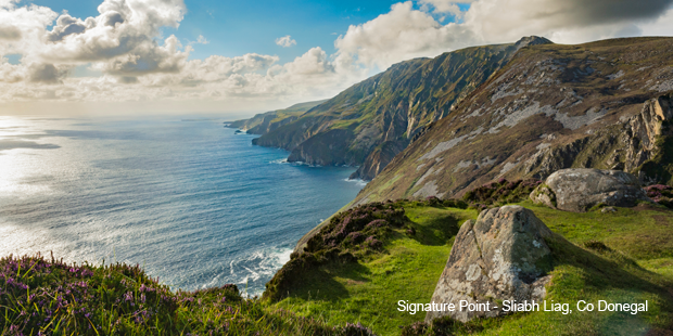 Sliabh Liagh Cliffs, Donegal along Ireland's Wild Atlantic Way