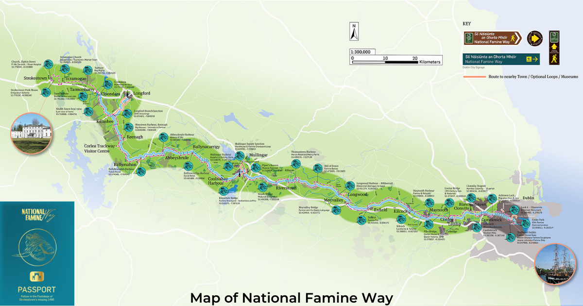 National Famine Way Map and Passport